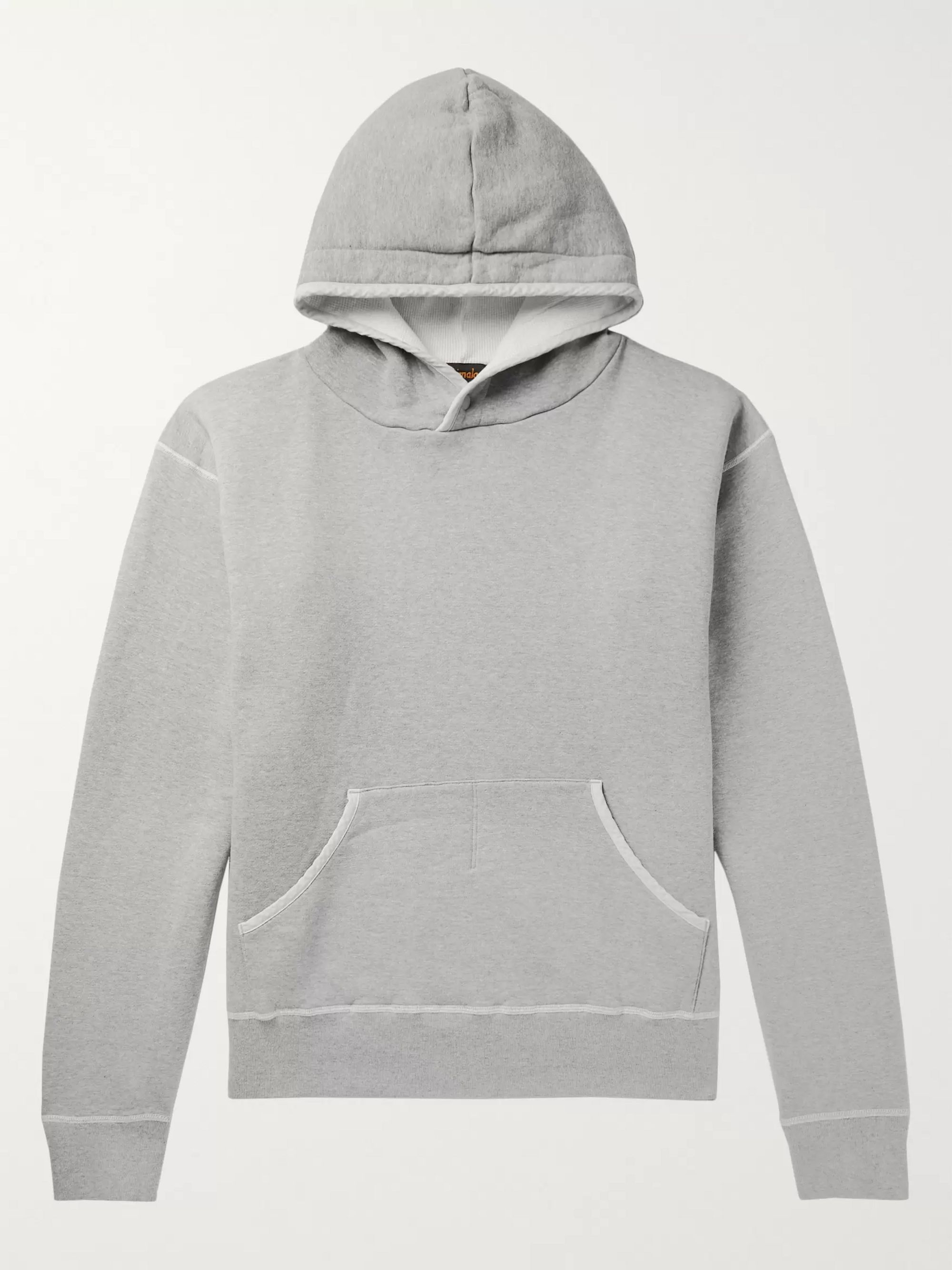 Chimala Oversized Mélange Fleece-Back Cotton-Jersey Hoodie