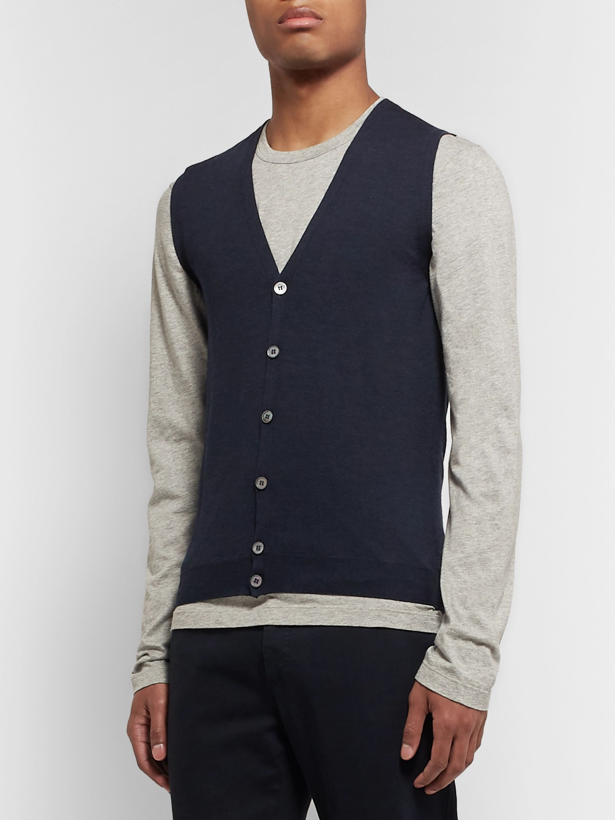Incotex Wool-Blend Sweater Vest