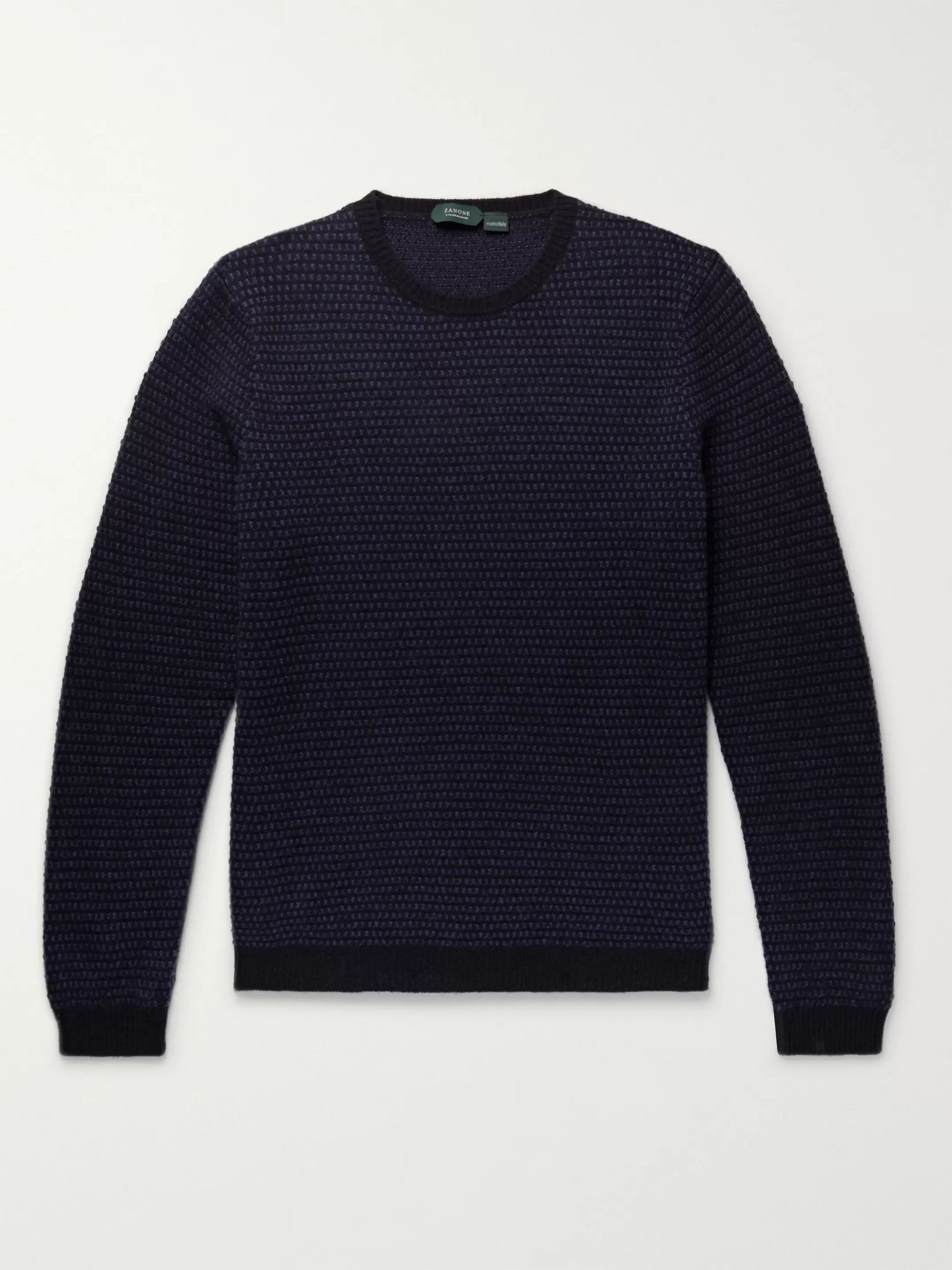 Incotex Birdseye Virgin Wool-Jacquard Sweater