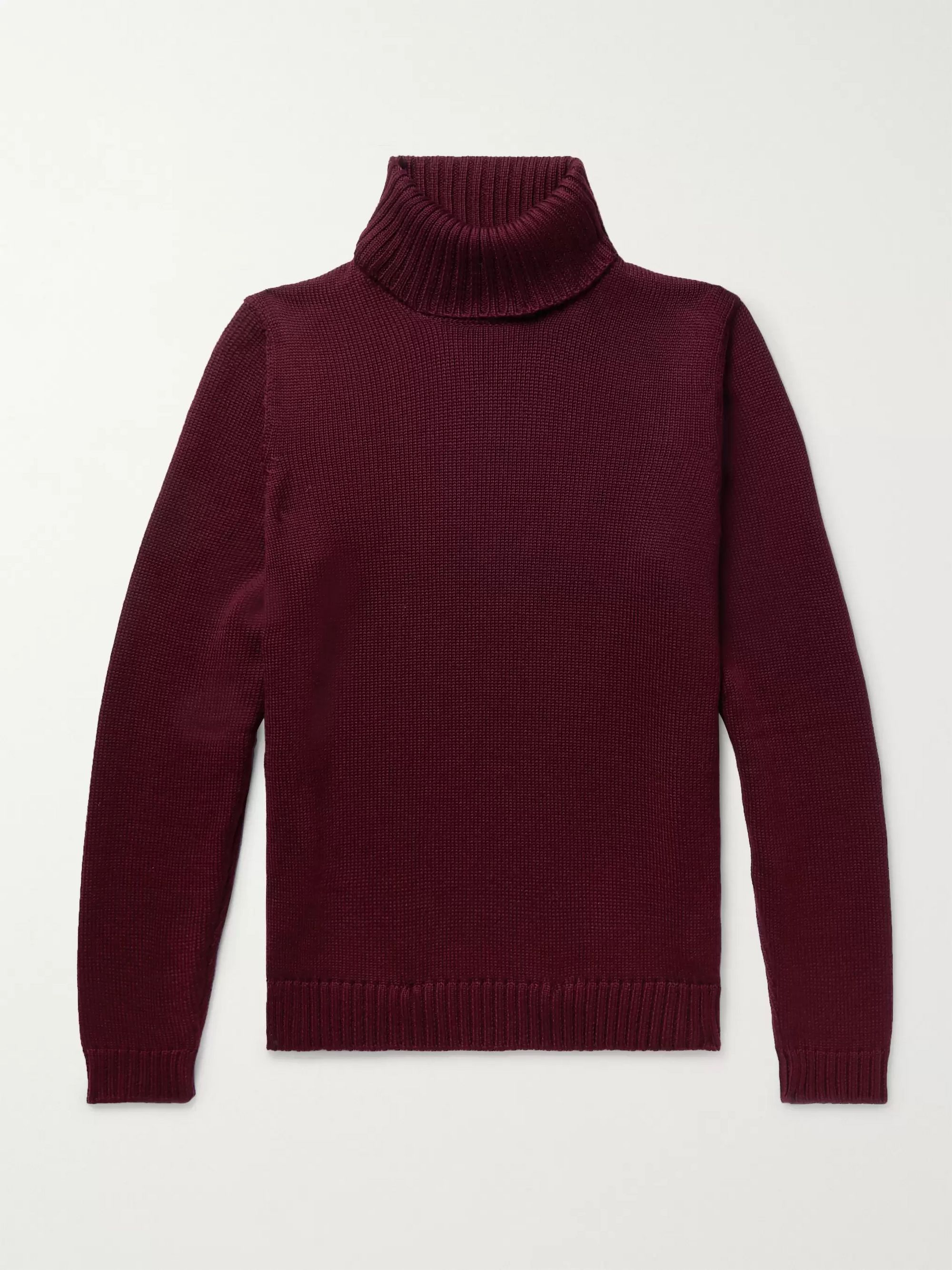 Incotex Slim-Fit Virgin Wool Rollneck Sweater