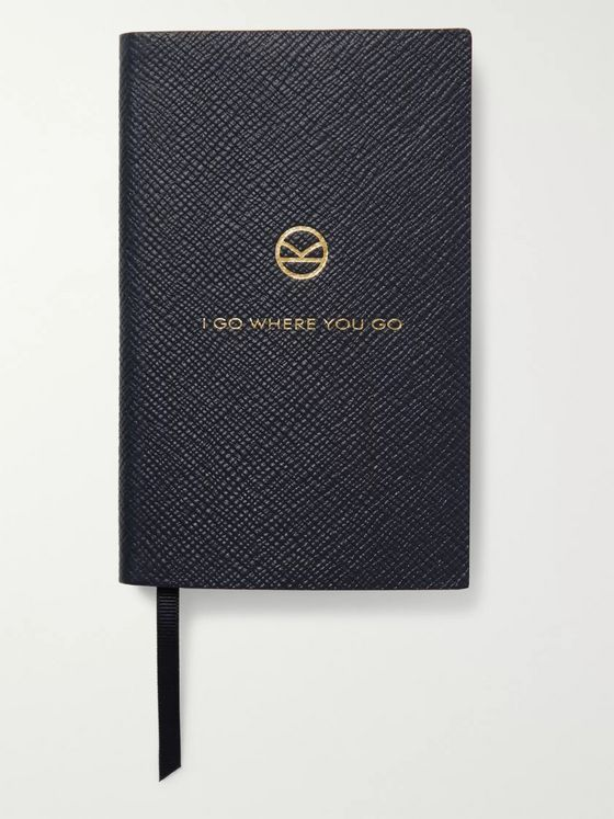 KINGSMAN + Smythson Panama I Go Where You Go Cross-Grain Leather Notebook