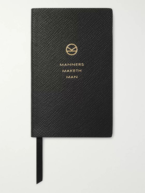KINGSMAN + Smythson Panama Manners Maketh Man Cross-Grain Leather Notebook