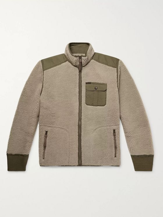 RRL Ripstop-Panelled Fleece Jacket