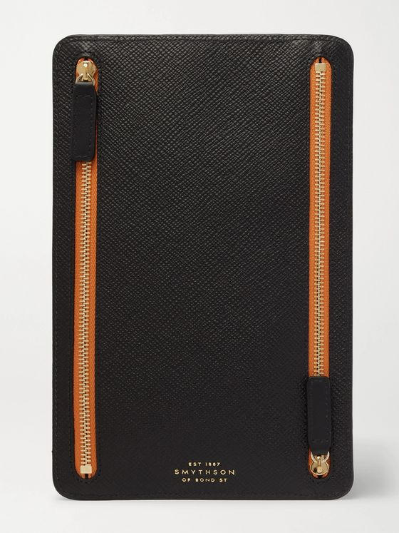 Kingsman + Smythson Cross-Grain Leather Pouch