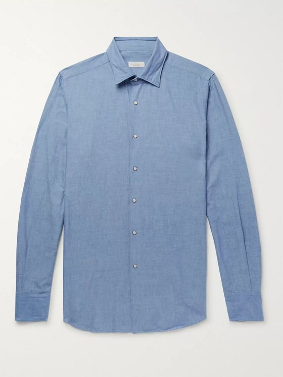 Incotex Slim-Fit Cotton-Chambray Shirt