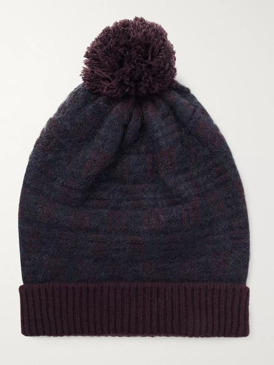 Incotex Virgin Wool-Blend Jacquard Beanie