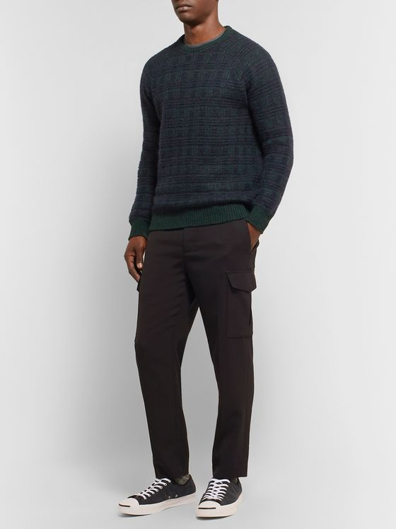 Incotex Checked Virgin Wool-Blend Sweater