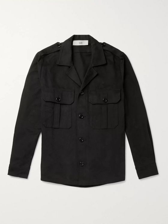 Séfr Jack Camp-Collar Denim Overshirt