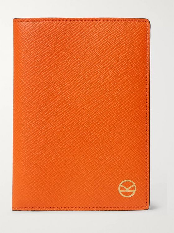 KINGSMAN + Smythson Cross-Grain Leather Passport Cover