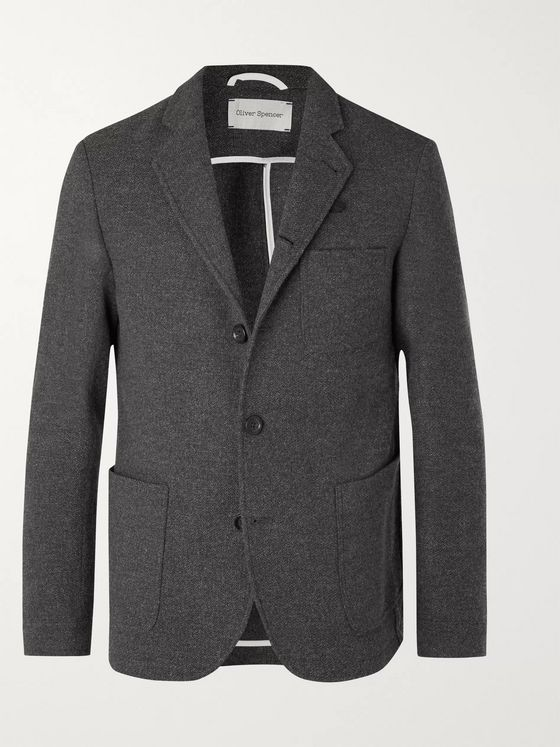 Oliver Spencer Grey Solms Wool and Cotton-Blend Blazer