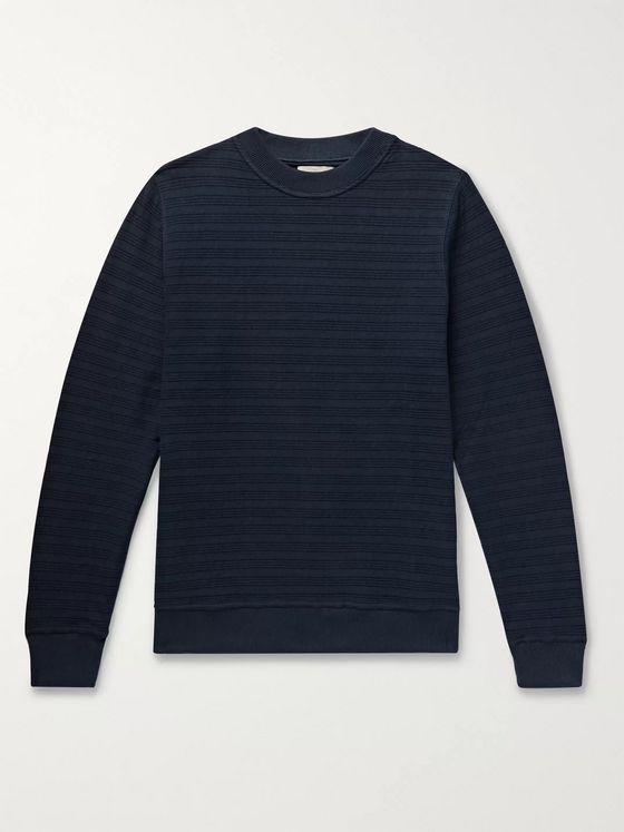 Oliver Spencer Robin Ribbed Organic Cotton-Jersey Sweatshirt
