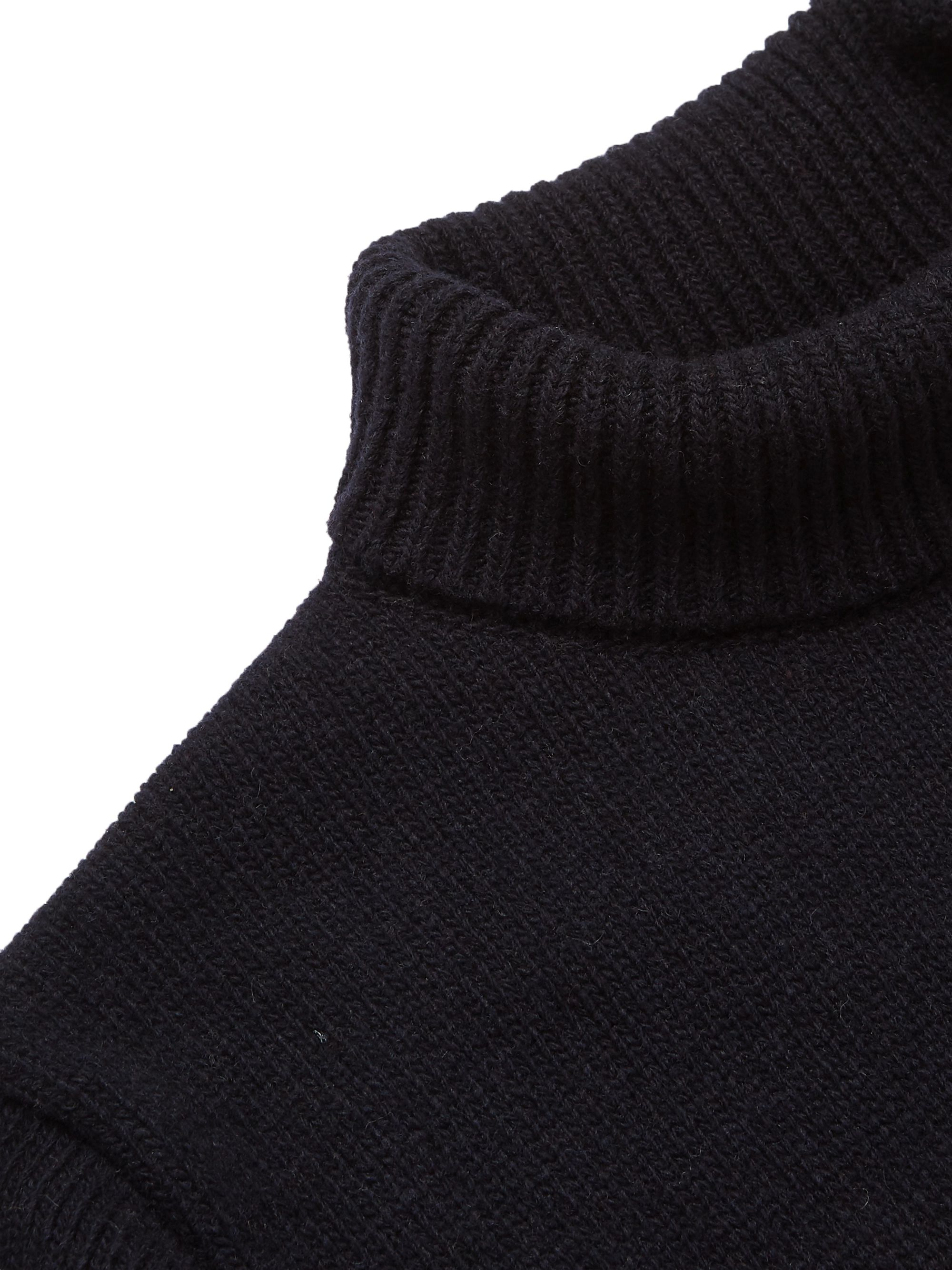 Oliver Spencer Talbot Slim-Fit Wool-Jacquard Rollneck Sweater
