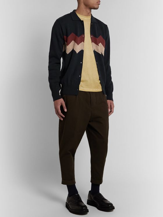 Oliver Spencer Roxwell Intarsia Wool Cardigan