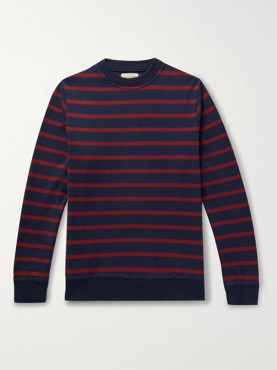 Oliver Spencer Robin Striped Organic Cotton-Jersey Sweatshirt