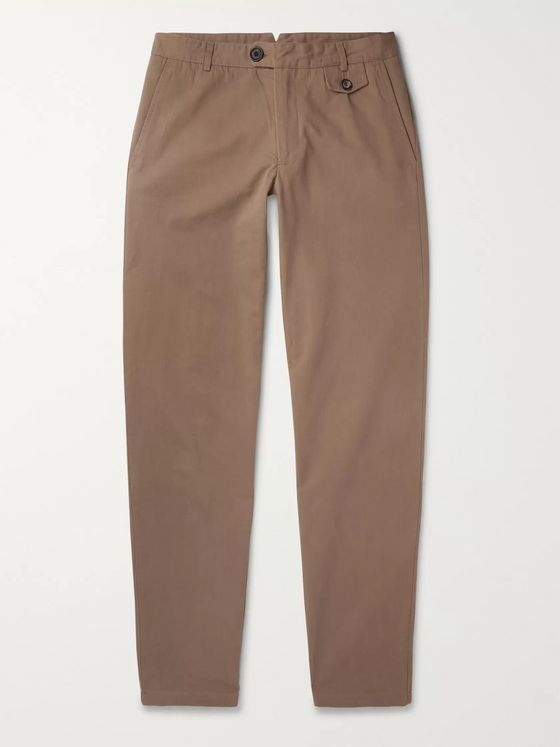 Oliver Spencer Fishtail Tapered Organic Cotton-Twill Trousers