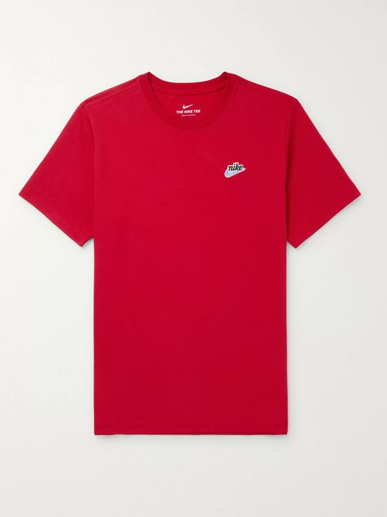 Nike Logo-Appliquéd Cotton-Jersey T-Shirt