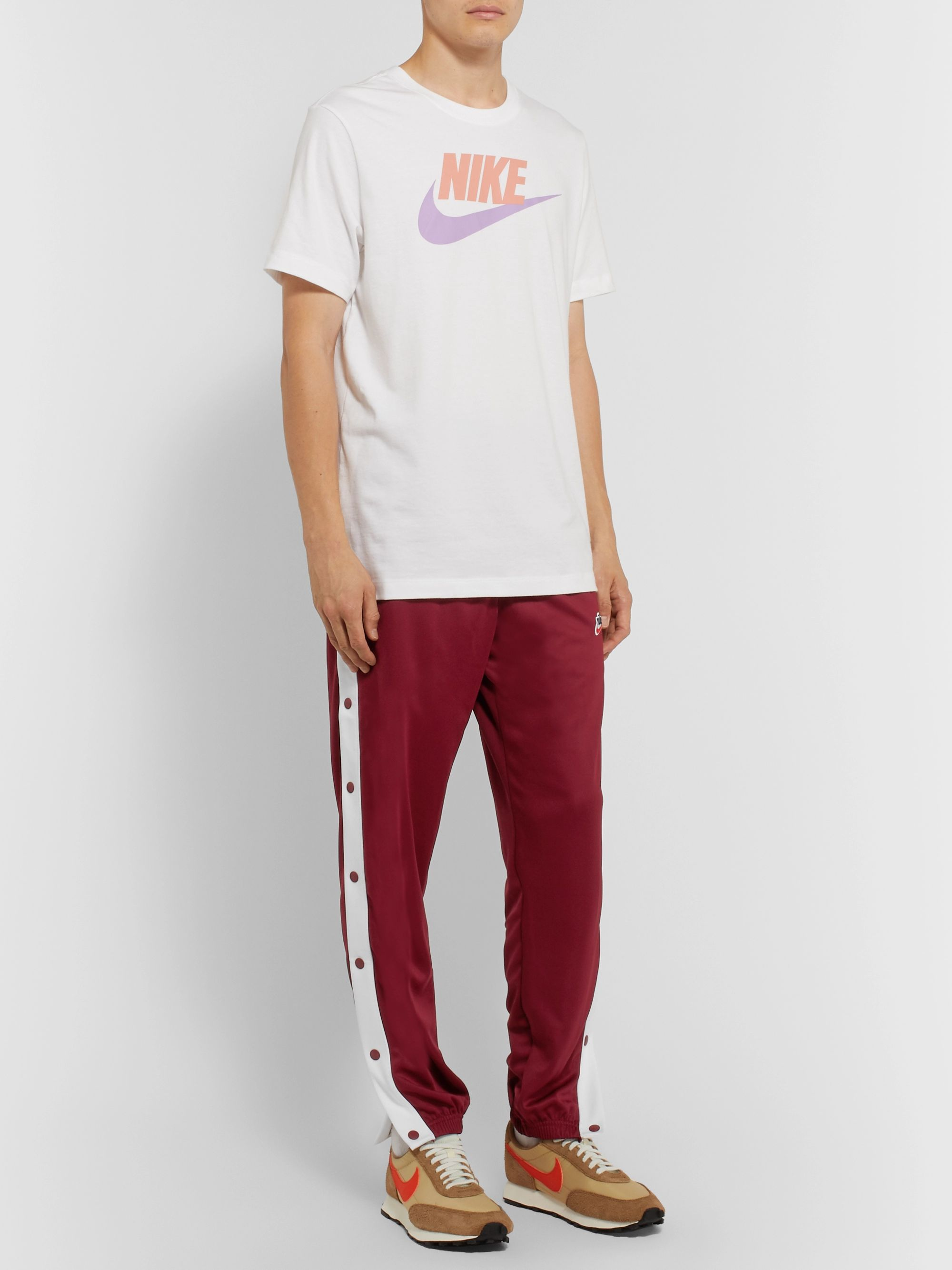 Nike Tapered Snap-Detailed Tech-Jersey Track Pants