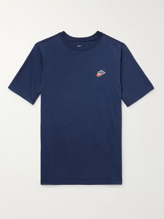 Nike Heritage Logo-Embroidered Cotton-Jersey T-Shirt