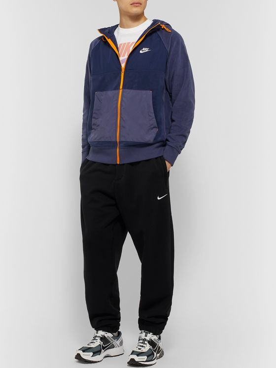 Nike Shell-Panelled Fleece Zip-Up Hoodie