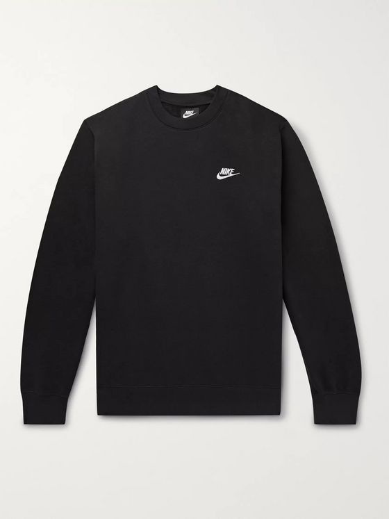 Nike Sportswear Club Logo-Embroidered Cotton-Blend Tech Fleece Sweatshirt