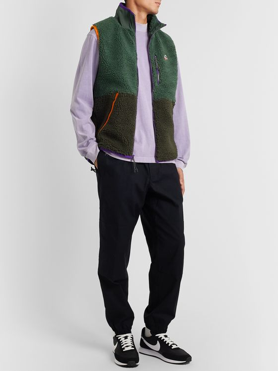 Nike Sportswear Contrast-Tipped Fleece and Shell Gilet