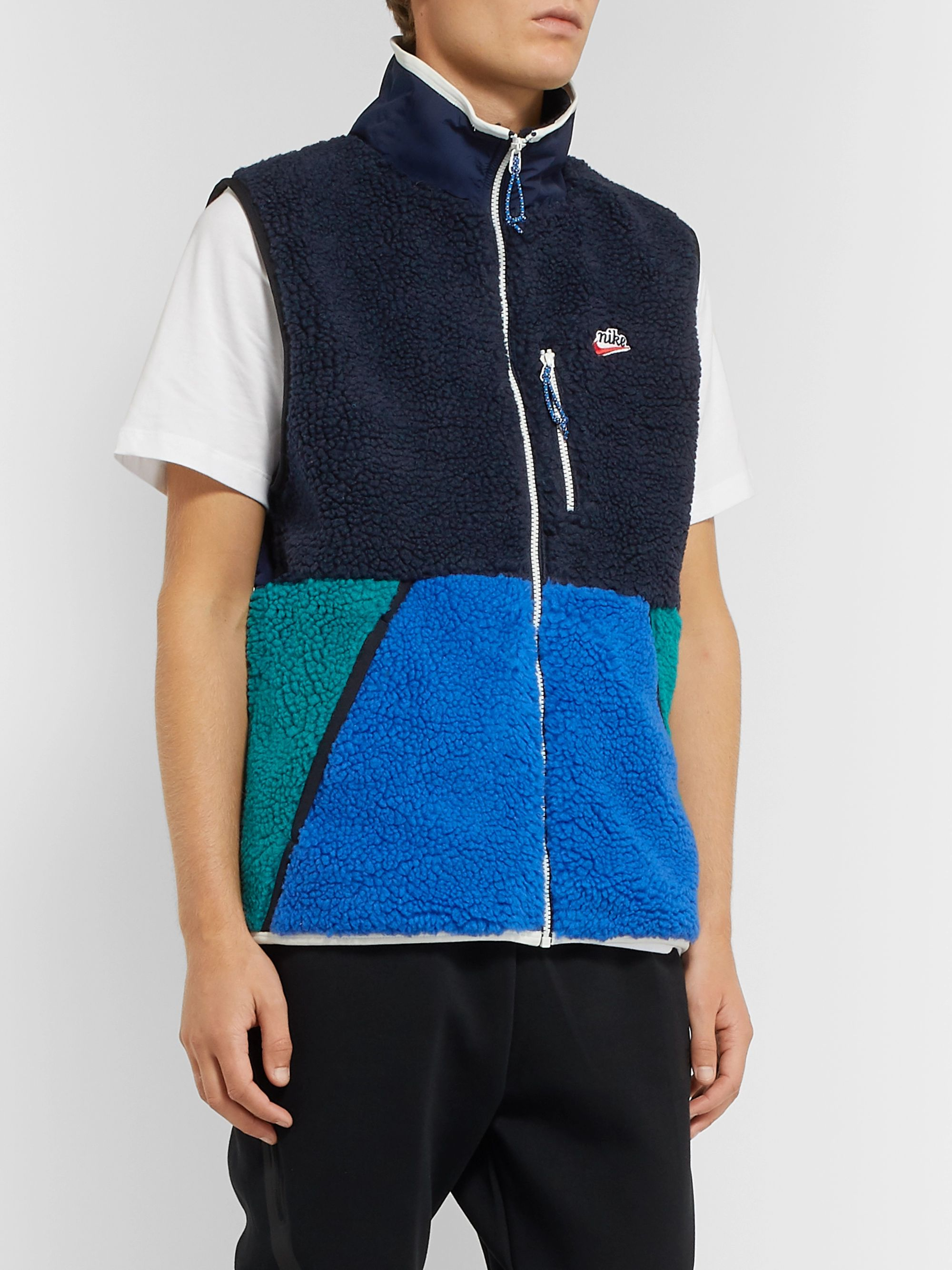 Nike Colour-Block Fleece and Shell  Gilet