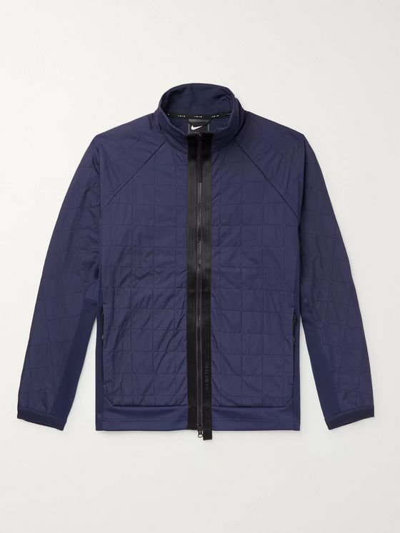 Nike Tech Pack Quilted Shell-Panelled Stretch Tech-Jersey Jacket