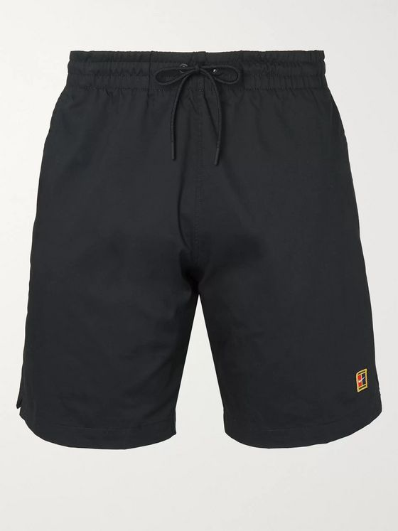 Nike NikeCourt Heritage Logo-Embroidered Dri-FIT Drawstring Shorts