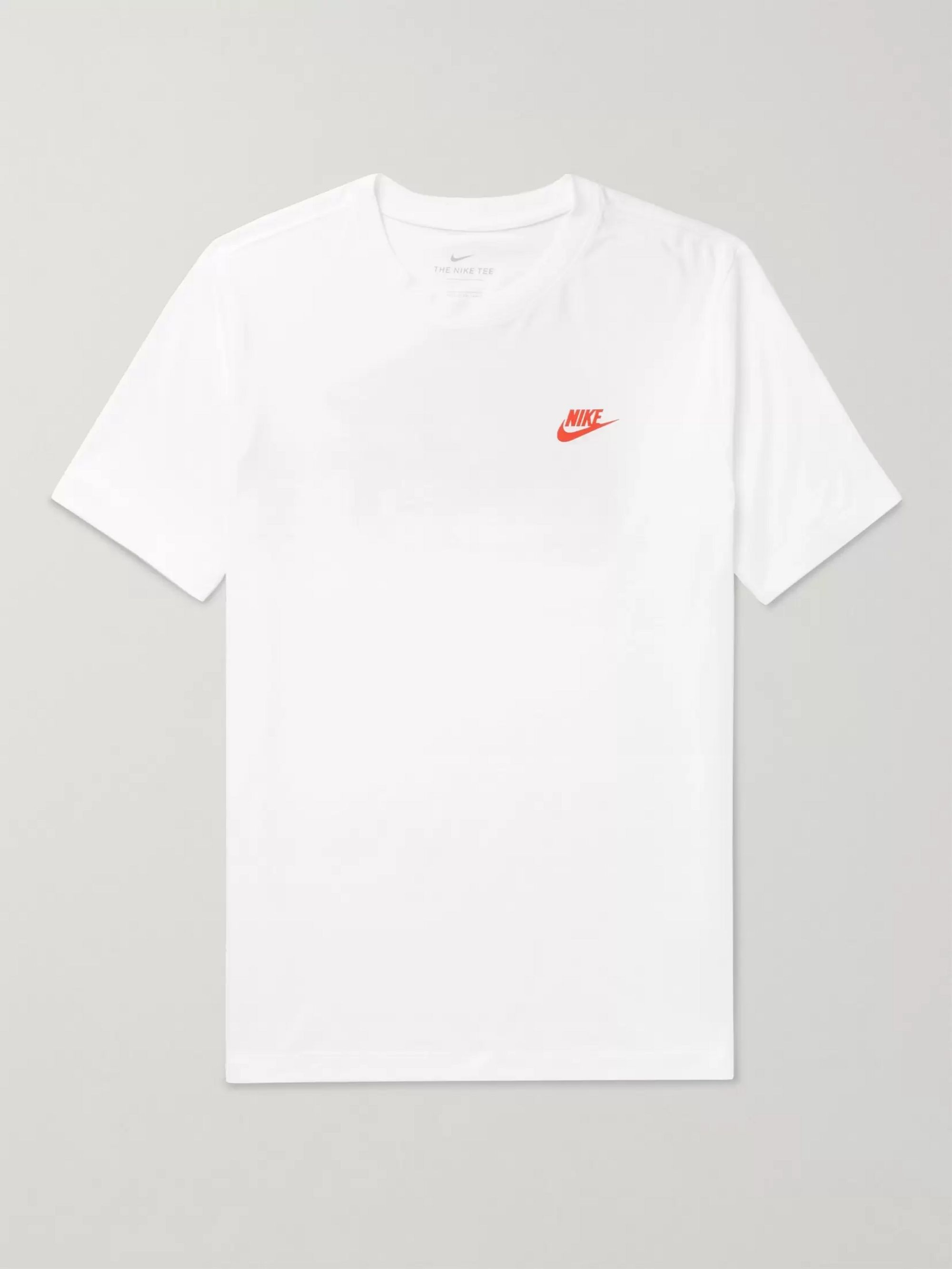 white and grey nike t shirt