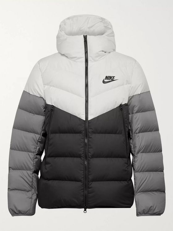 Nike Sportswear Windrunner Colour-Block Quilted Shell Hooded Down Jacket