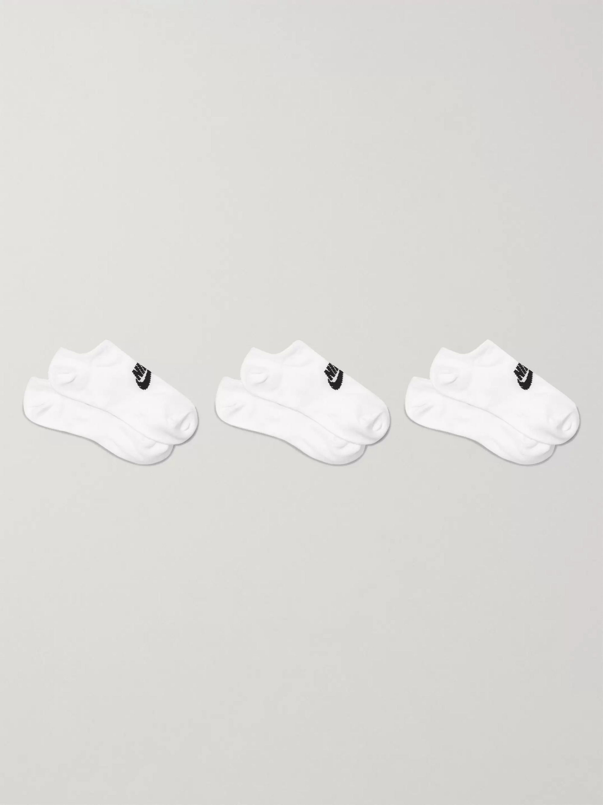 Nike Three-Pack Everyday Cotton-Blend No-Show Socks
