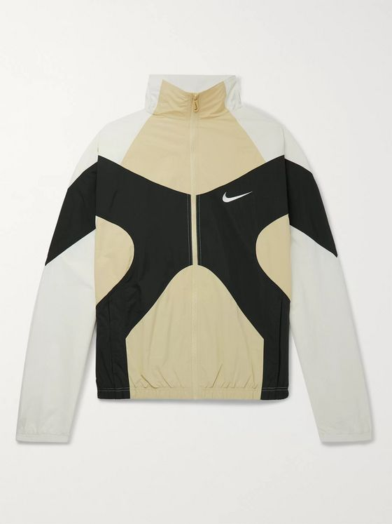 Nike Logo-Embroidered Colour-Block Shell Jacket