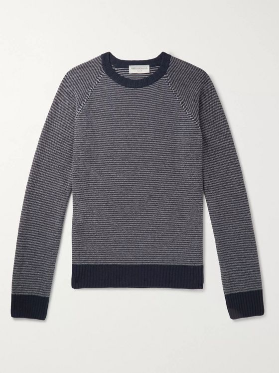 Officine Generale Striped Wool and Cashmere-Blend Sweater