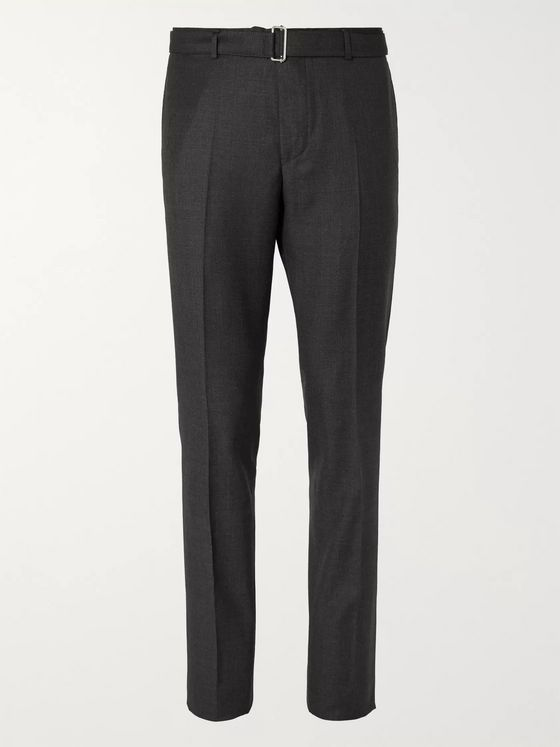 Officine Generale Charcoal Slim-Fit Wool Suit Trousers