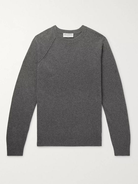Officine Generale Mélange Cashmere and Wool-Blend Sweater