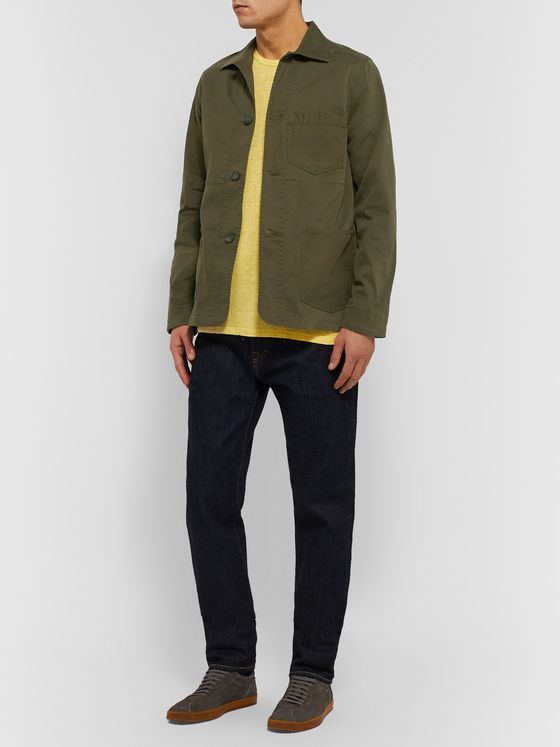 Officine Generale Garment-Dyed Cotton-Blend Twill Chore Jacket