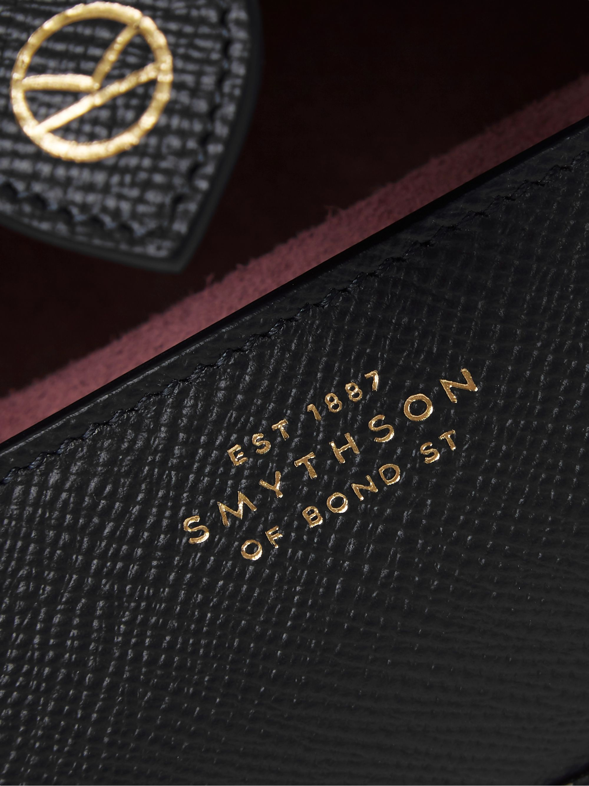 Kingsman + Smythson Cross-Grain Leather Watch Roll