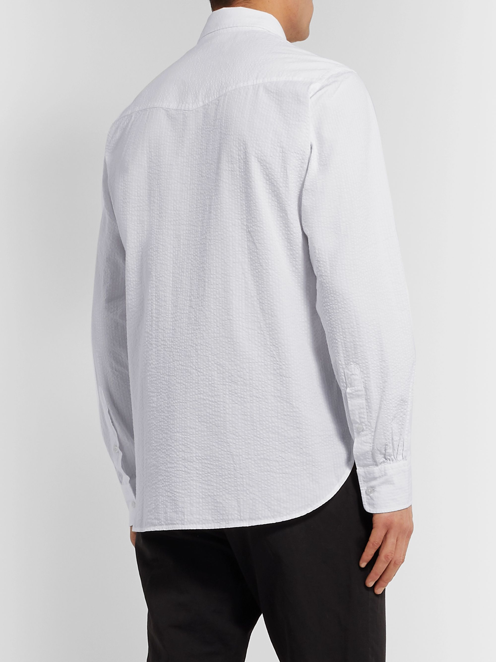 Officine Generale Lipp Cotton-Seersucker Shirt