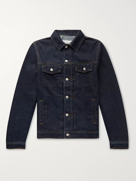 Officine Generale Liam Raw Denim Jacket