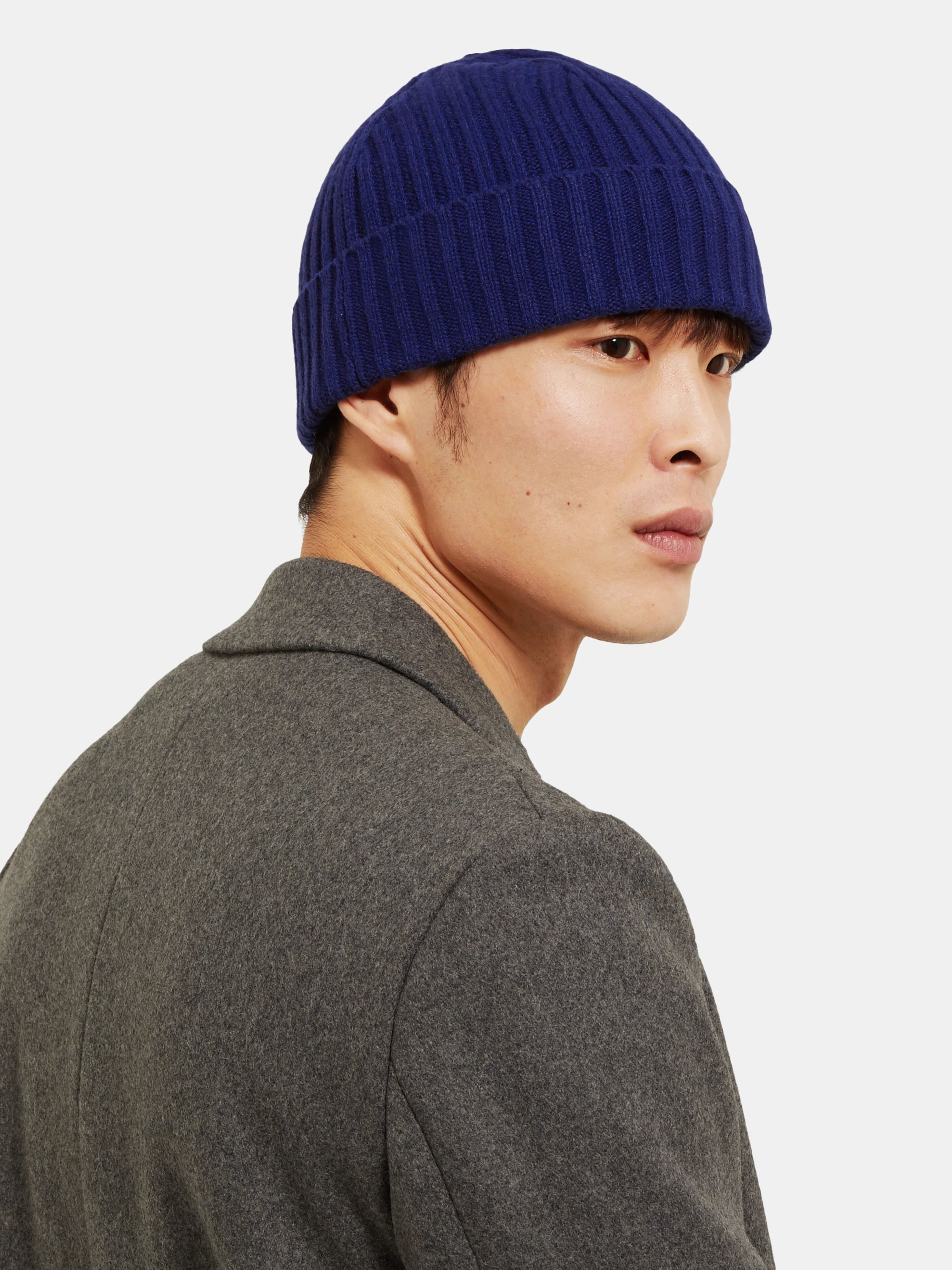 Officine Generale Ribbed Cashmere and Wool-Blend Beanie