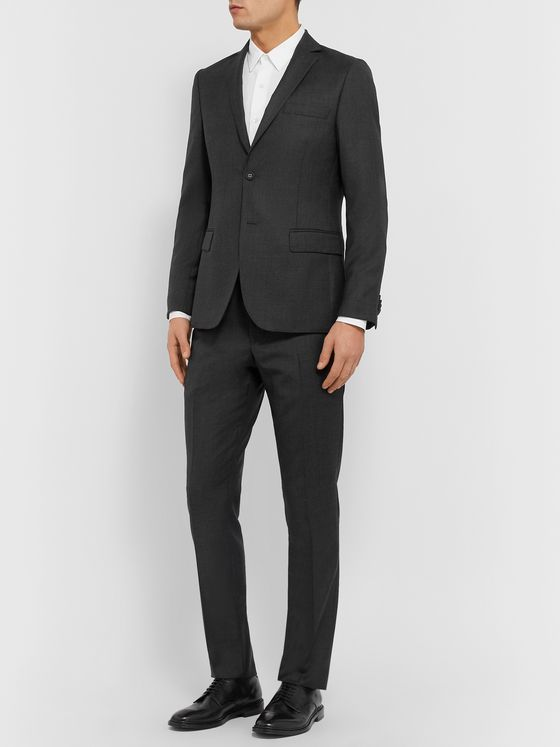 Officine Generale Charcoal Slim-Fit Wool Suit Jacket