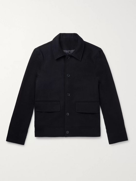 Officine Generale Karl Wool and Cashmere-Blend Harrington Jacket