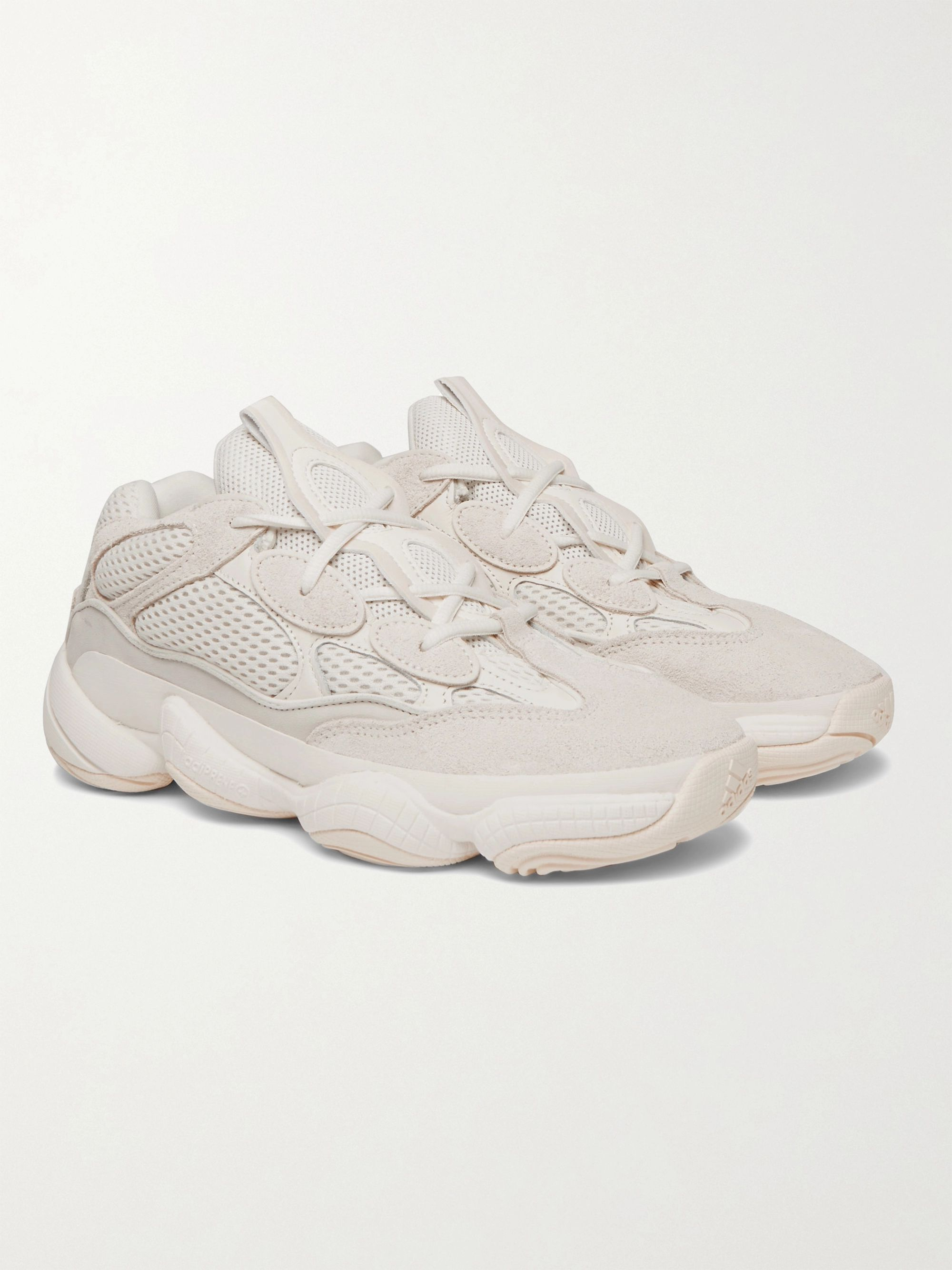 Yeezy 500 Suede, Leather and Mesh Sneakers