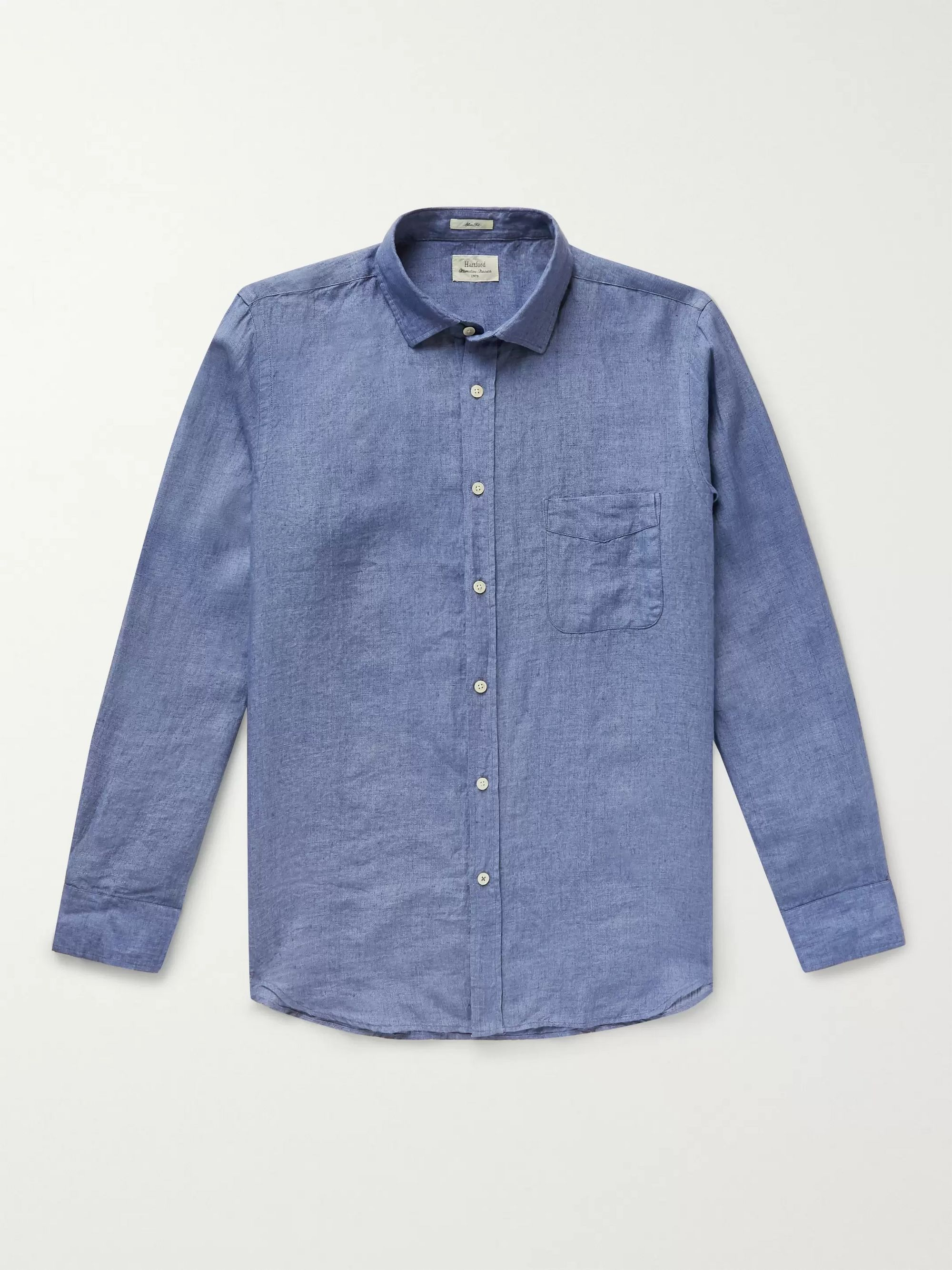Slim Fit Cotton Chambray Shirt by Hartford