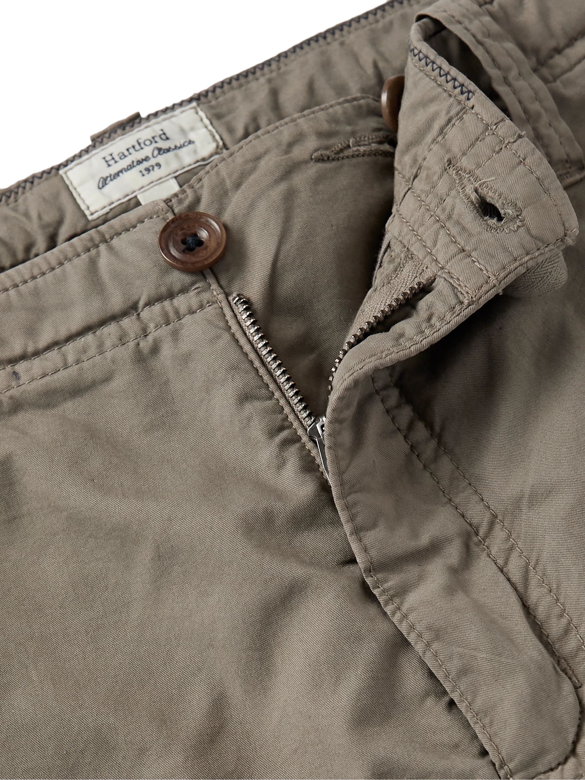 Hartford Slim-Fit Cotton Drawstring Shorts