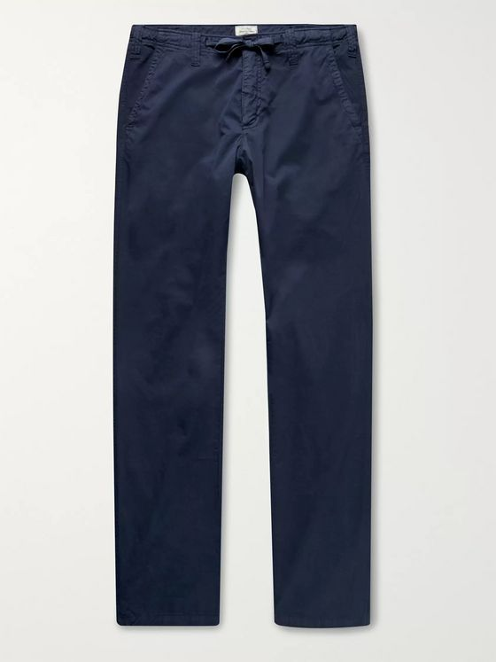 Hartford Troy Cotton-Twill Drawstring Trousers