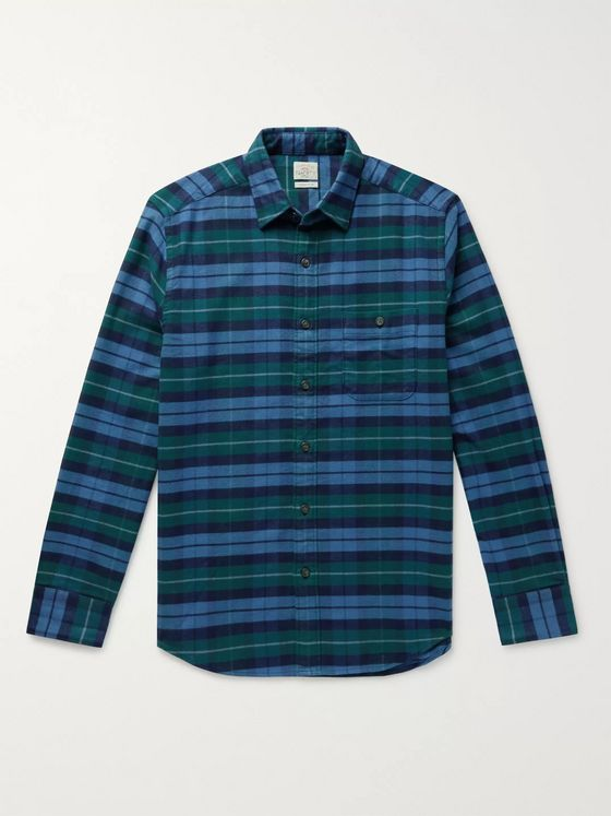 Faherty Checked Organic Stretch-Cotton Shirt