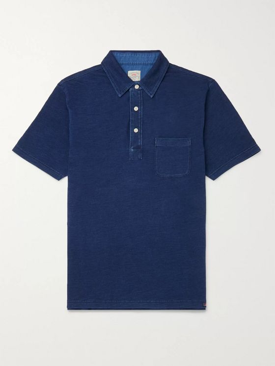 Faherty Garment-Dyed Cotton-Jersey Polo Shirt