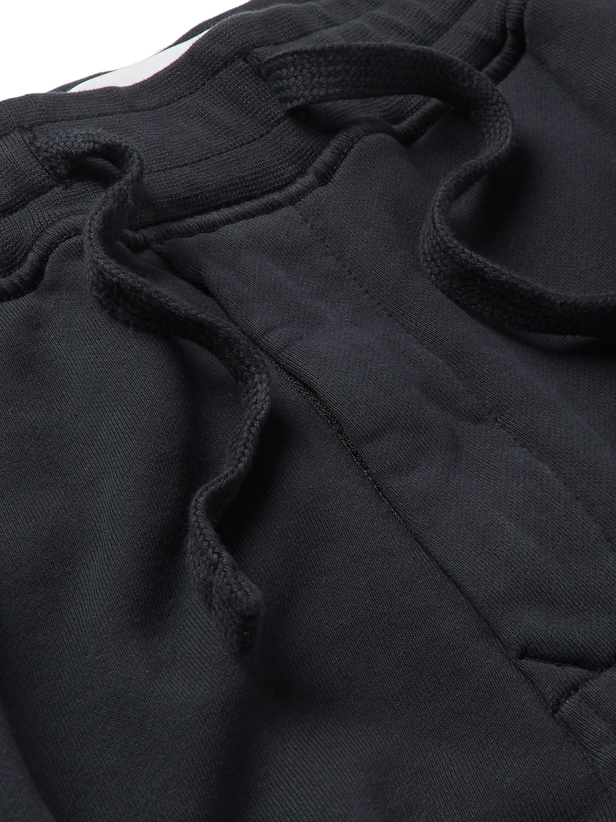 Stone Island Logo-Appliquéd Garment-Dyed Fleece-Back Cotton-Jersey Sweatpants