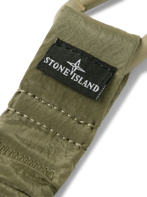 Stone Island Logo-Detailed Elasticated Nylon Key Fob
